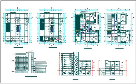 building floor plan detail and elevation view detail dwg file office building floor plan detail view dwg file