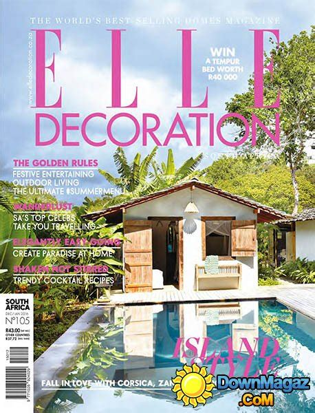 home decor magazines in south africa elle decoration sa december 2015 january 2016 187 download
