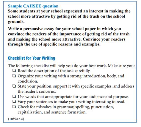 Cahsee Essay Exles by Cahsee Essay Prompts Cahsee Expository Essay Prompts Research Paper Service Ayucar