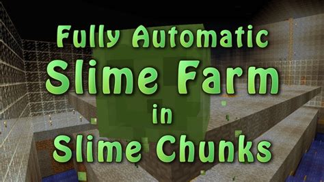 slime chunk tutorial minecraft fully automatic slime farm in slime chunks 2 3