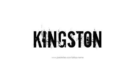 kingston name tattoo designs