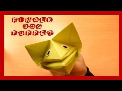 How To Make A Paper Finger - how to make a paper finger puppet