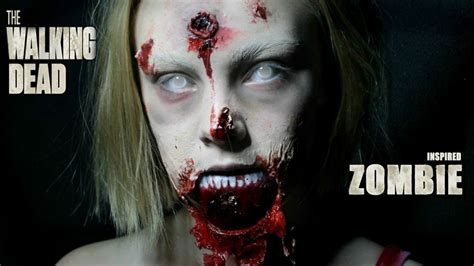 youtube tutorial zombie walking dead inspired zombie easy and no prothstectics