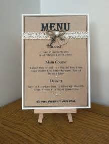 table menus for weddings