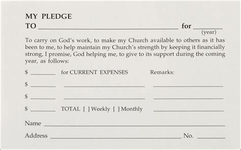 Church Offering Envelope Template