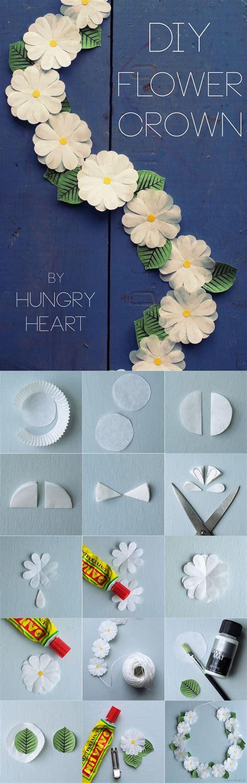 diy paper flower crown tutorial diy flower crown step by step tutorial hungryheart se