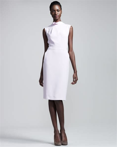 Dress Stretch roland mouret stretch crepe dress in pink tea lyst