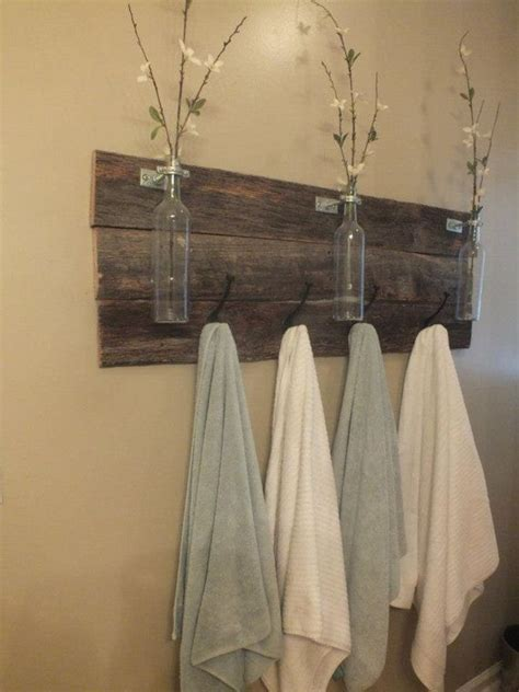 Towel Rack Ideas For Small Bathrooms Best 25 Towel Bars Ideas On Rustic Towel Bars Bathroom Shelves And Barn Wood Bathroom