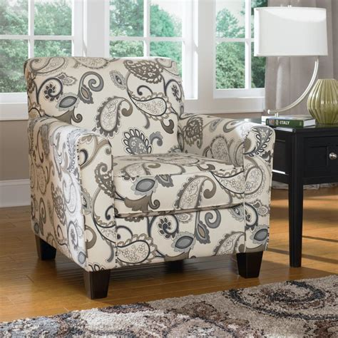 accent chair country paisley pattern furniture with