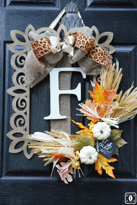 How To Make Fall Wreaths For Front Door 40 Fall Wreaths To Make For Your Front Door