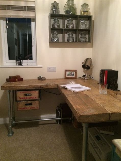 industrial style desk with drawers industrial salvage computer desk with reclaimed pepsi