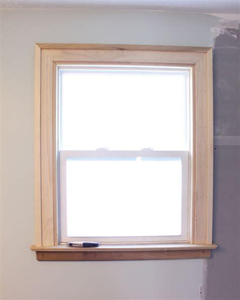 bathroom window trim tile prepping danks and honey