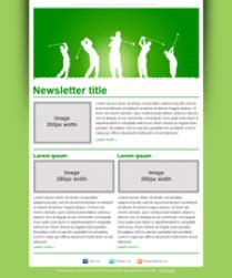 Newsletter Templates For Golf Golf Newsletter Templates