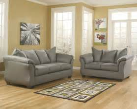 darcy cobblestone soft fabric upholstered sofa and