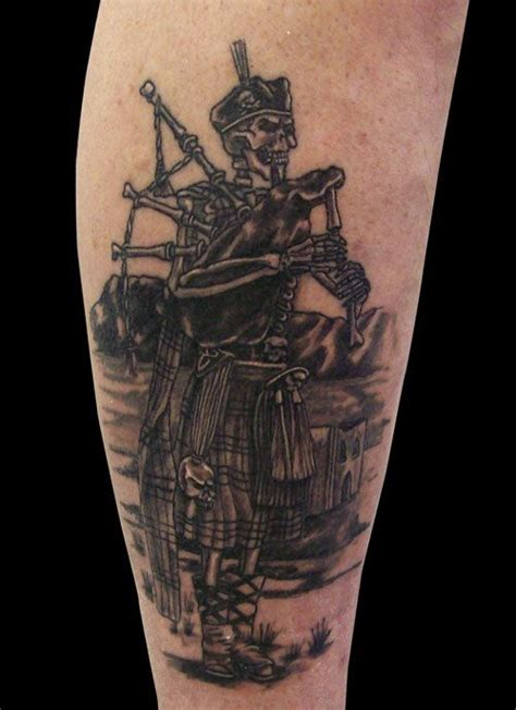 scottish piper tattoo designs bagpiper search ink
