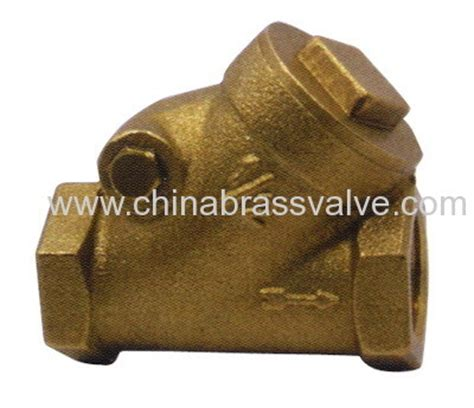 brass swing check valve china brass y type swing check valve hjc04 china brass