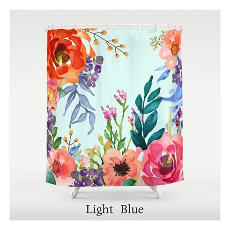 bright floral shower curtain bright pastel floral custom made shower curtains unique