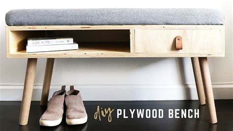 diy plywood bench  storage learn     diy