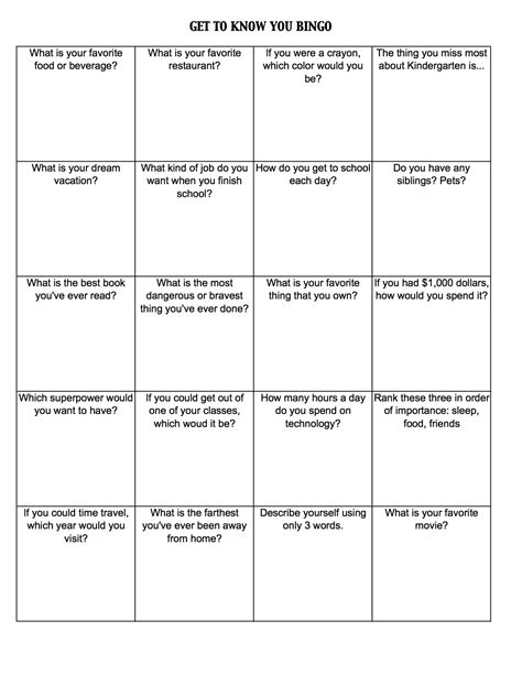 get to you bingo template day activities kristen dembroski ph d