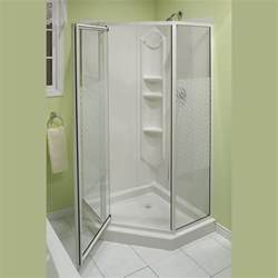 portrayal of corner shower units for small bathroom