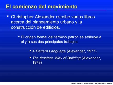 christopher alexander a pattern language 1977 introducci 243 n a los patrones de dise 241 o software