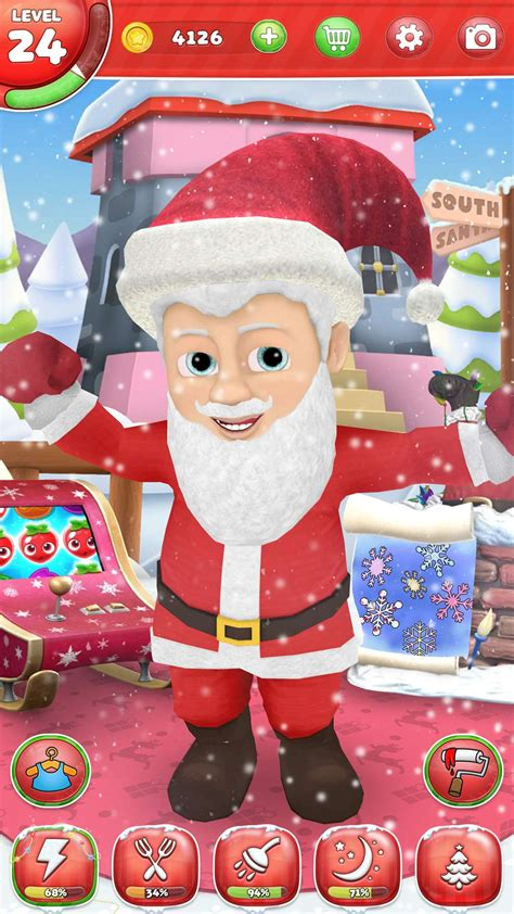 santa claus  virtual friend game  android iphone  ipad