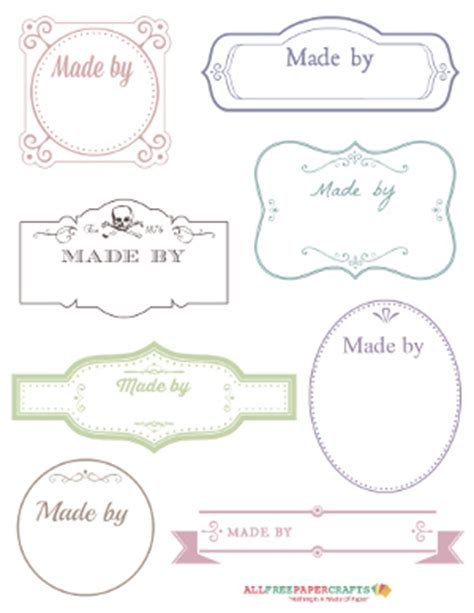 Handmade By Tags - free printable labels for handmade crafts
