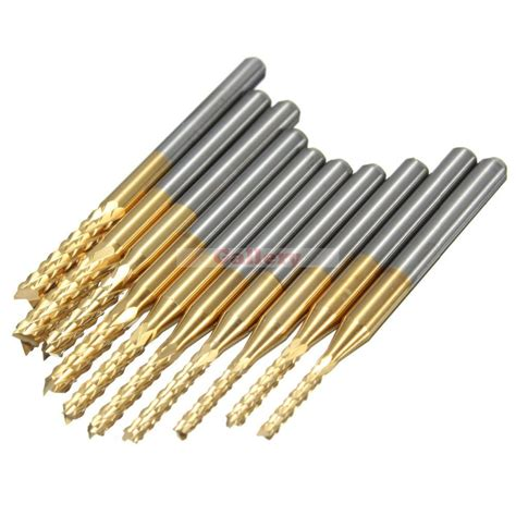 Drill Carbide Diameter 10 5 Mm 10 pcs 1 5mm 3 175 mm carbide end mill engraving bits for