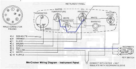 mercruiser instrument panel wiring diagrams