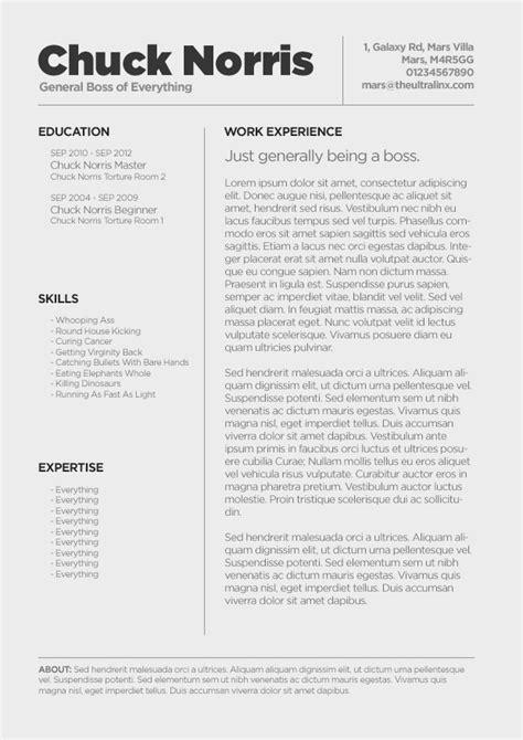 creative resume format minimal cv resume template psd cv resume