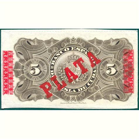 comprar lingotes de oro banco de espa a cuba 5 pesos 1896 banco espa 241 ol isla de cuba sc tienda