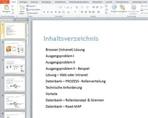 Vorlage Inhaltsverzeichnis Word Powerpoint Inhaltsverzeichnis Automatisch Erstellen