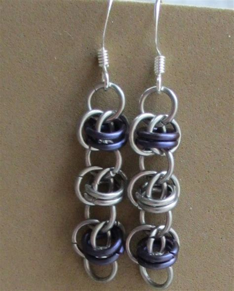 chain mail plus jewelry projects using crystals charms more books barrel weave chainmaille earrings allfreejewelrymaking