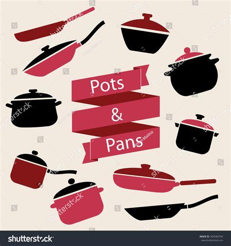 pots stock illustration image 45254770 colorful cookware icon set pots pans stock vector