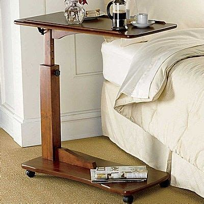 tilting adjustable bedside rolling tray table adjustable height hospital tray bed table