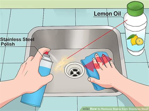 How To Clean Stains From Stainless Steel Sink by 4 Ways To Remove Stains From Stainless Steel Wikihow