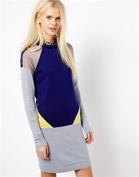 Sweater Esprit Esprit Esprit Color Block Sweater Dress At Asos
