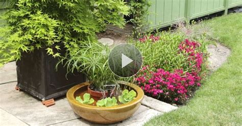 watch create a container water feature in the better homes and gardens video idea using