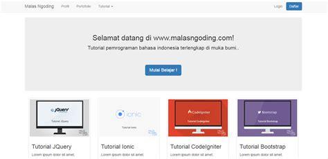 membuat template website dengan html membuat template blog sederhana dengan bootstrap malas