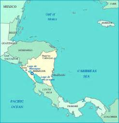 nicaragua south america map nicaragua map central america