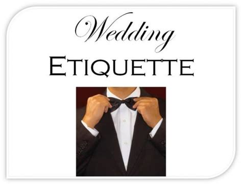 Wedding Etiquette by Wedding Etiquette Faux Pas