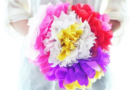 How To Make Tissue Paper Bouquet - how to make tissue paper flowers bouquet flowers ideas