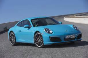 2017 porsche 911 carrera s coupe front three quarter motor trend