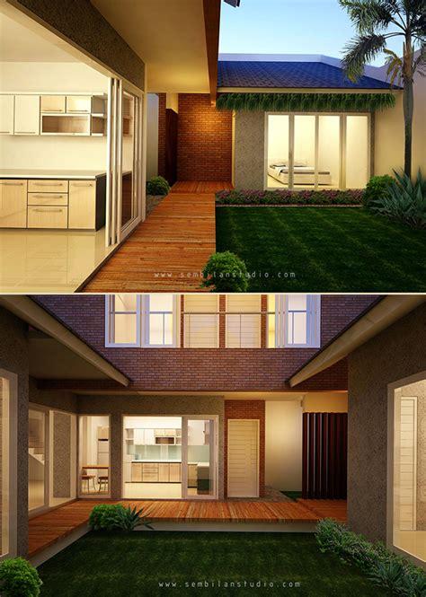 desain dapur terbuka ke taman lingkungan page 3 sembilanstudio
