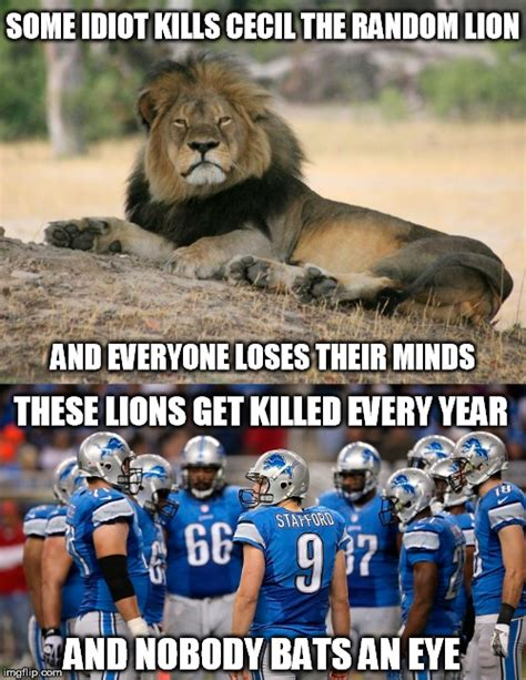 Lion Meme - image tagged in funny memes cecil the lion detroit lions