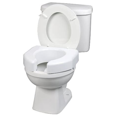 ableware open front elevated toilet seat  healthykincom