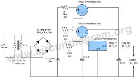 12v power supply diagram 12v 10a power supply circuit diagram