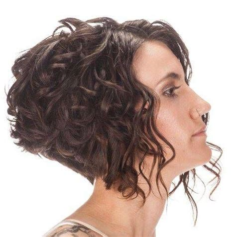 nverted bonforhick hair short curly inverted bob hairstyles hair pinterest