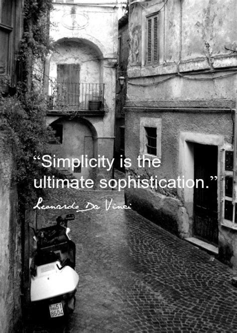 Leonardo Da Vinci 2477 by Food For Thought Simplicity Is The Ultimate