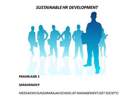 sustainable hr development authorstream